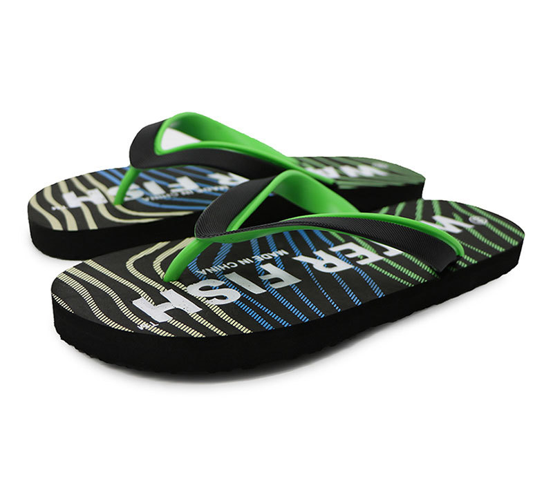 High Quality Double Color Strap Printing Men Fancy Flip Flops Factory Price
