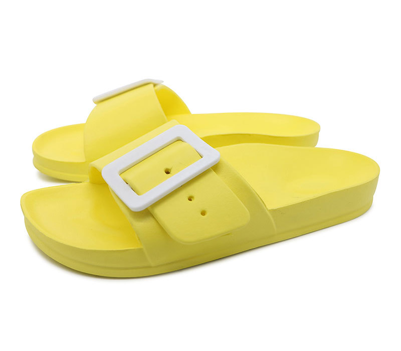 Women Buckle Lightweight Slides Slippers Wholesale