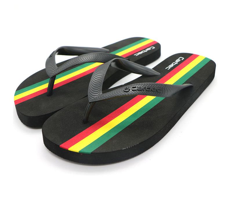 New Design Men Beach Summer Print Slipper Custom Flip Flops