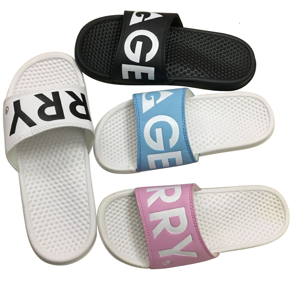 PVC Men Slides Slippers Customized Sandals for Beach