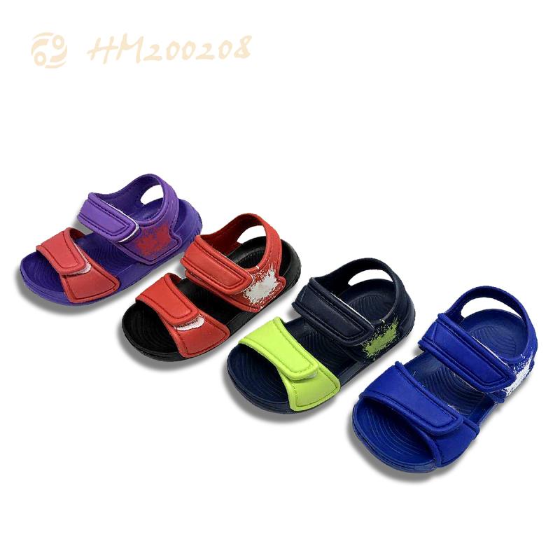 Children Hook-loop Sandals Lightweight Breathable Slippers