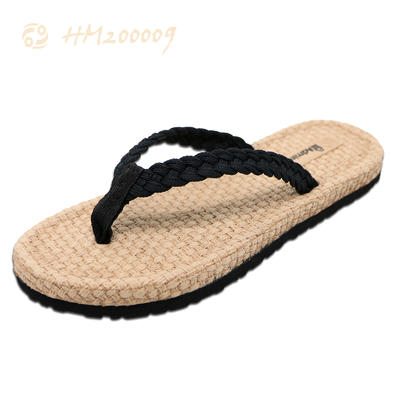 Factory Direct Selling Women Flip Flops PU Sole Non-Slip Slippers