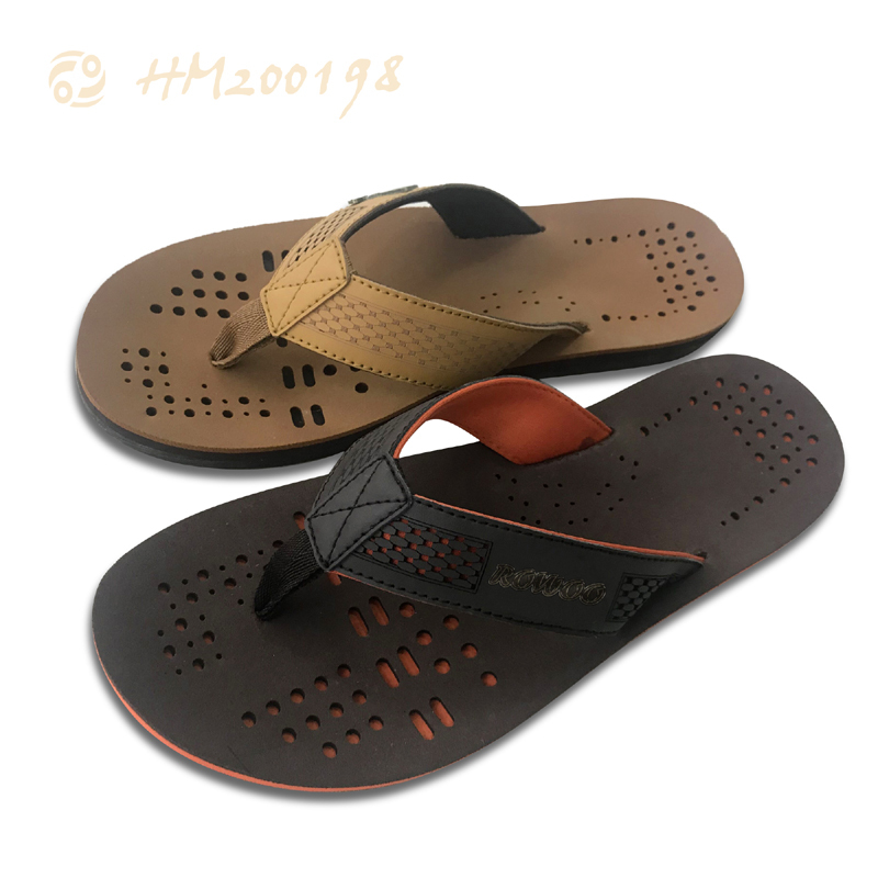 Men Leather Flip Flop Supplier Outdoor Slippers