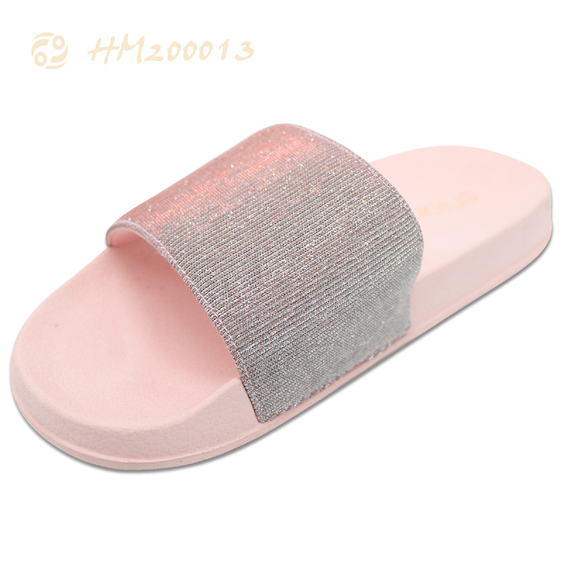 Women Glitter Slides Shoes Beach Slippers Factory Price