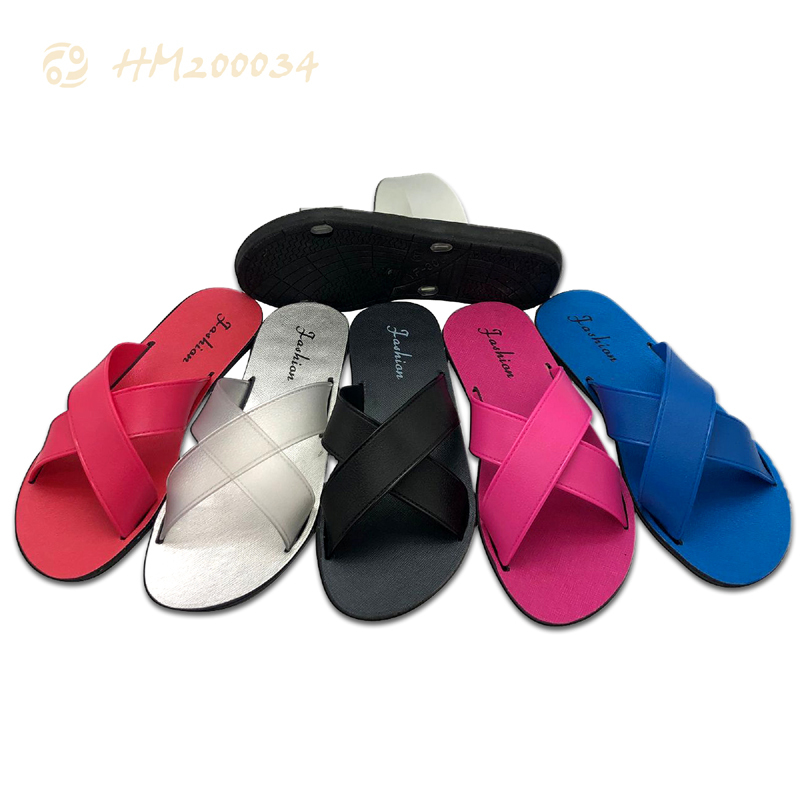Women 2 Strap Slides Pool Flat Sandals Wholesale Price