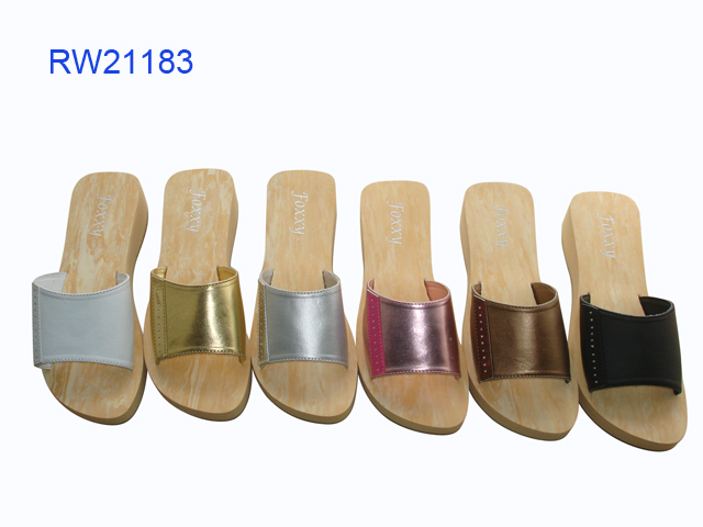 Wholesale Wedge Sandals Wooden Slippers For Women