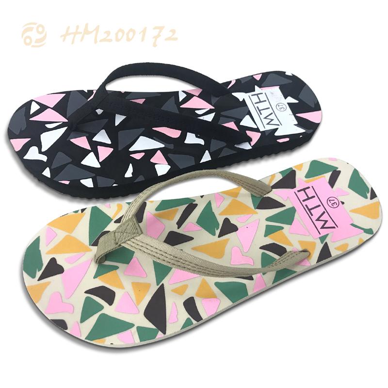 Geometric Flip Flops For Women Cheap Colorful