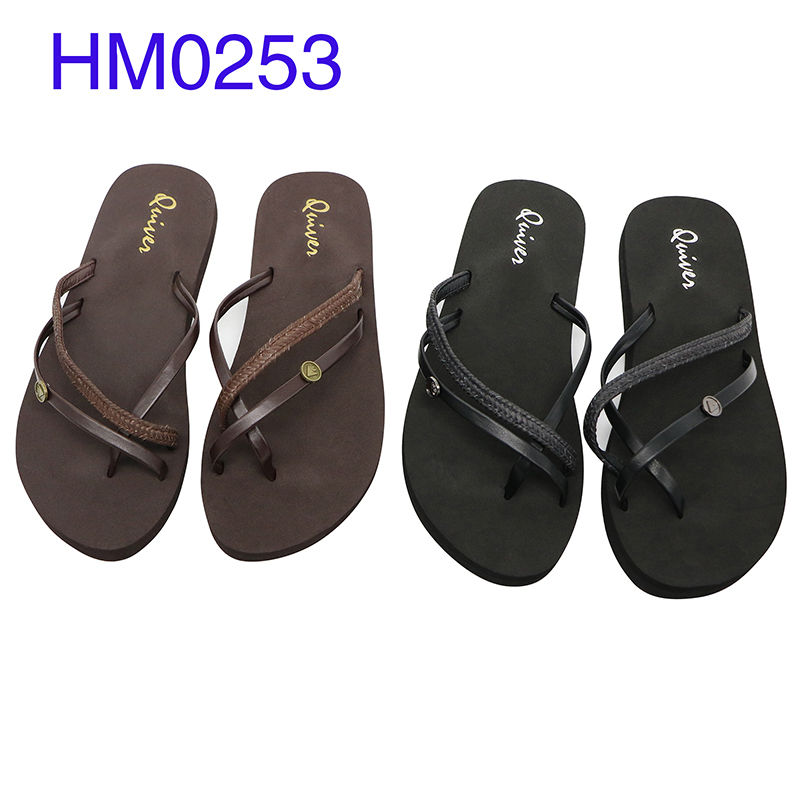 Women Dress Flip Flops Designer Three Strap Slipper