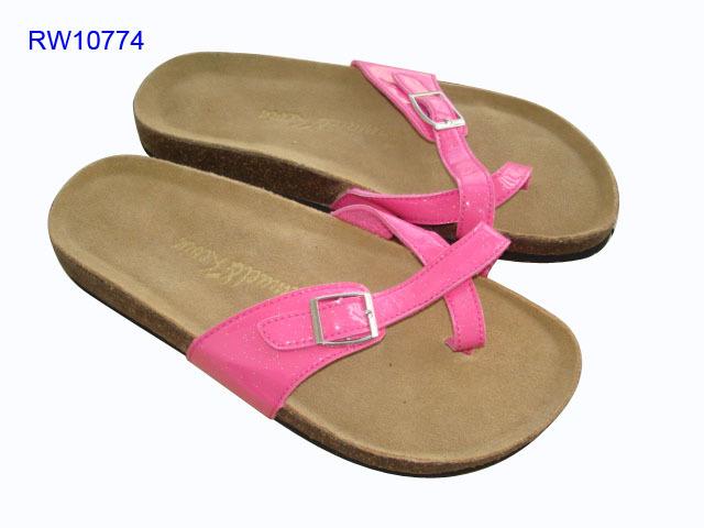 Women Cork Sandals Metal Button Beach Sandals Wholesale