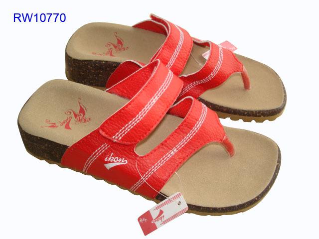 Custom 2 straps Women Cork Wedge Sandals Wholesale