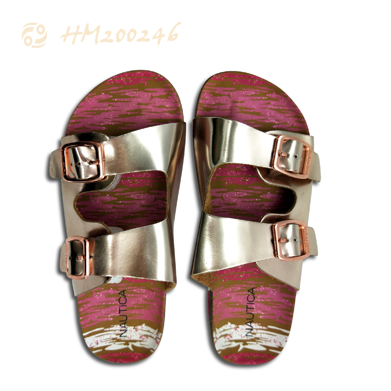 Best Quality Women Cork Sandals Gold Silver Slipper Wholesale