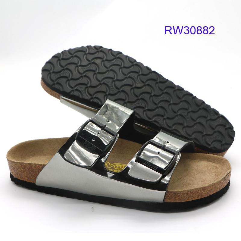 Best Women Cork Sandals Silver At Wholesale Prices