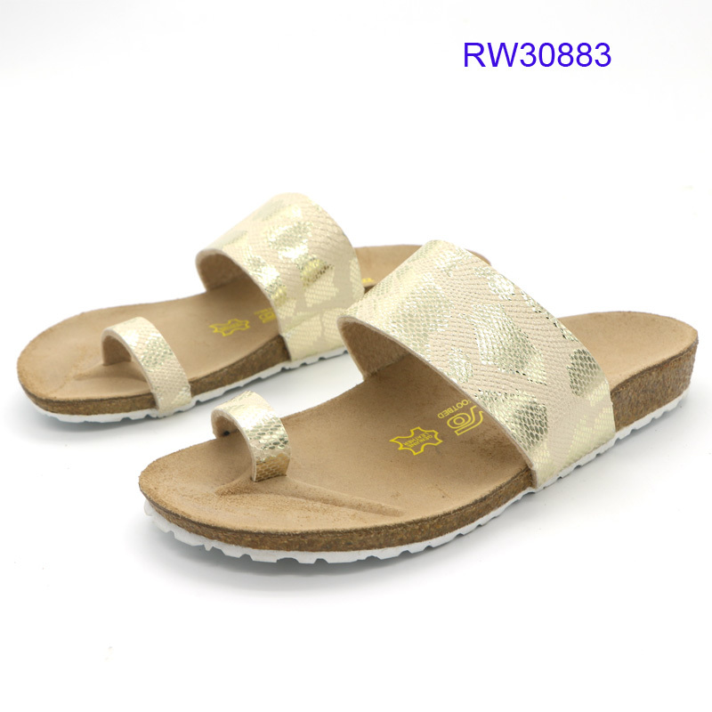 Custom Women Cork Slide Sandals Flat Slipper Wholesale