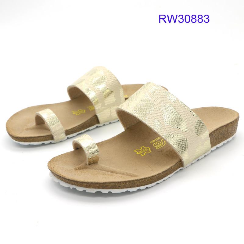 Custom Women Cork Slide Sandals Flat Slipper Wholesale
