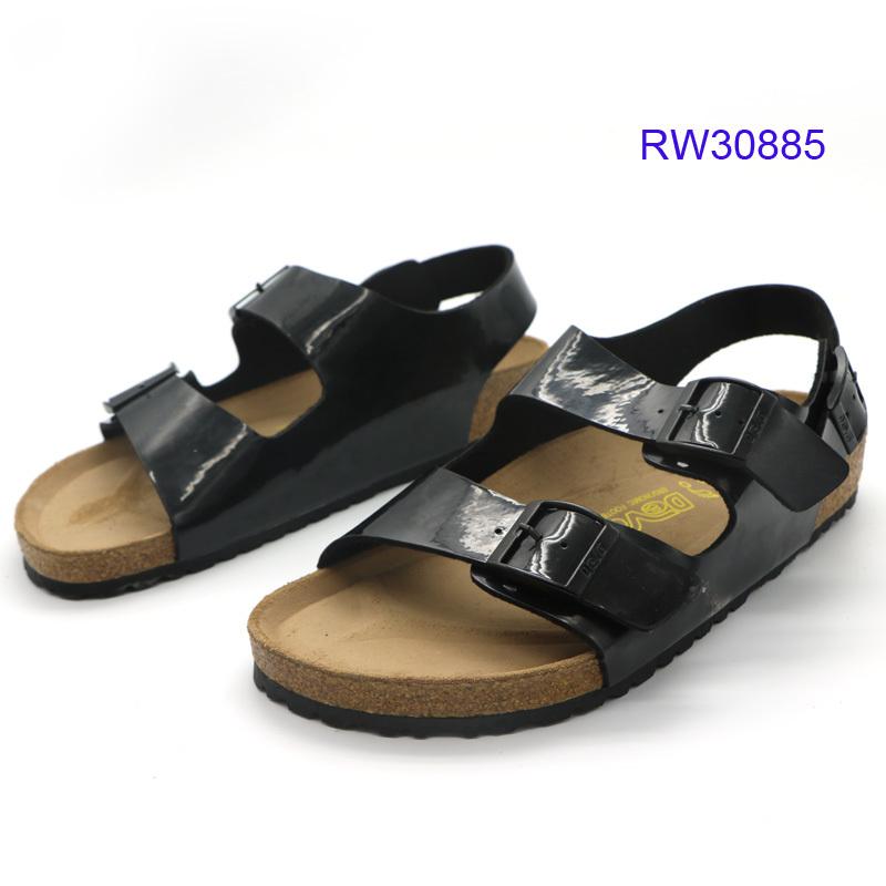 Custom Men Ankle-wrap Cork Sandals At Factory Price