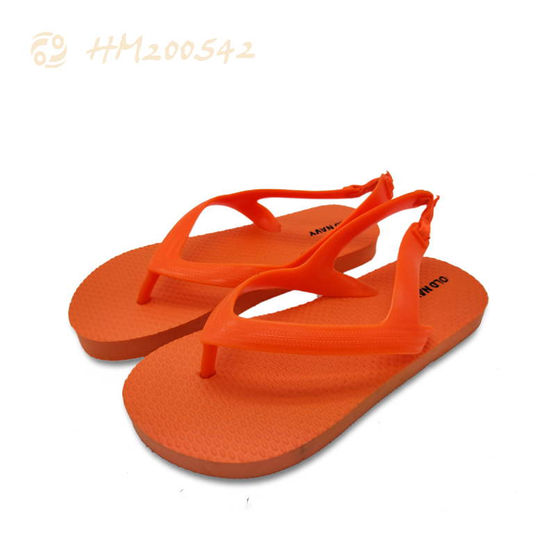 Boys Closed Toe Sandals Children Slipper Solid Orange Kids Sandals