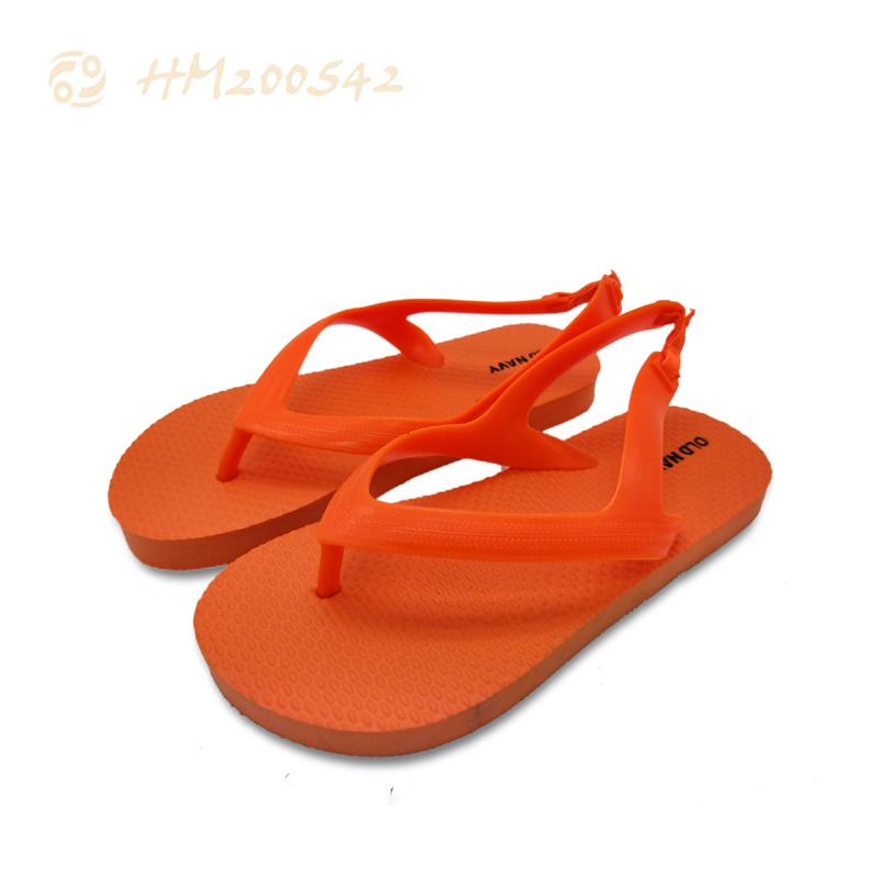 Boys Closed Toe Sandals Children Slipper Solid Orange Kids Sandals