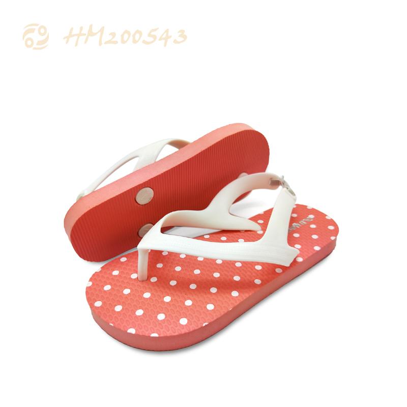 Best Children Slipper Solid Orange Kids Sandals Wholesale