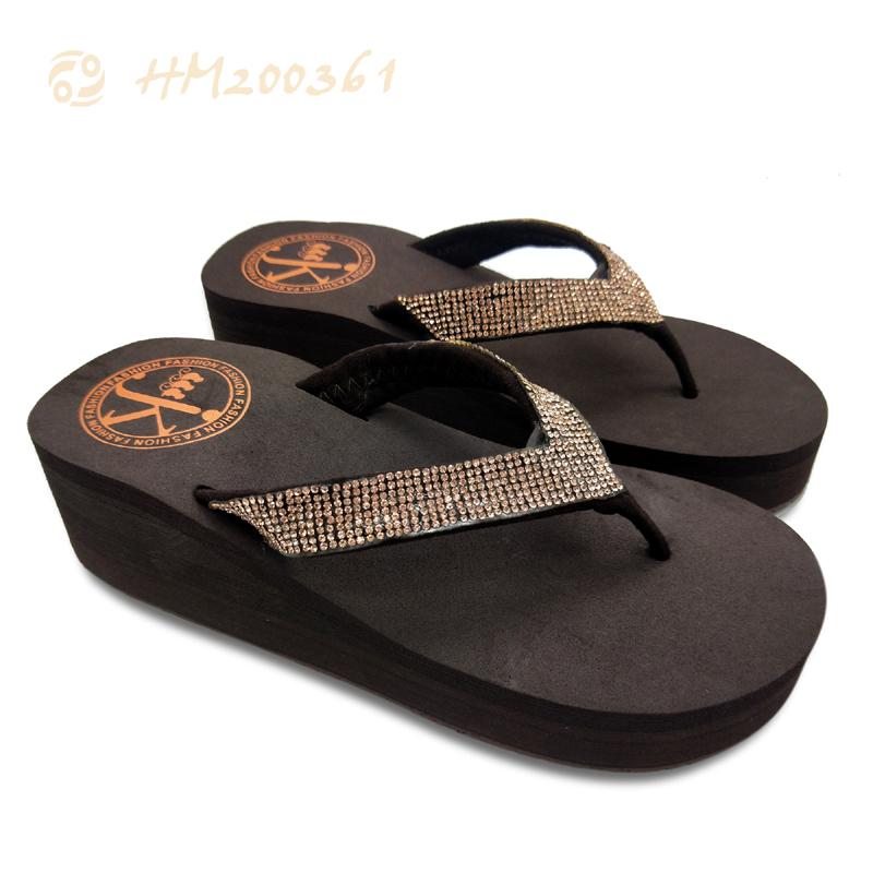 Designer High Heels Sandals Ladies Wedge Sandals Thong Sandals
