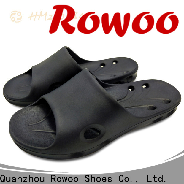 Rowoo leather house slippers manufacturer