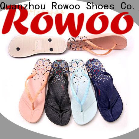 Rowoo Latest comfy flip flops womens factory price