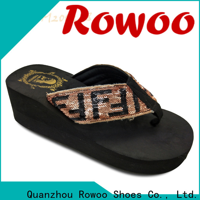Rowoo popular high heel slippers for ladies manufacturer