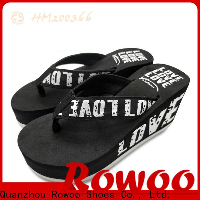 Latest platform heels slippers factory price