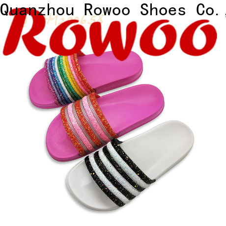 Rowoo leather slides womens manufacturer
