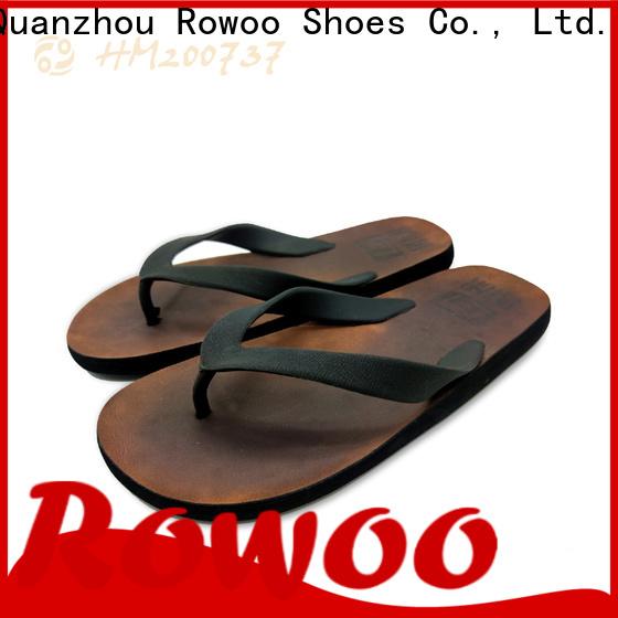 Rowoo oem flite men's flip flops thong sandals