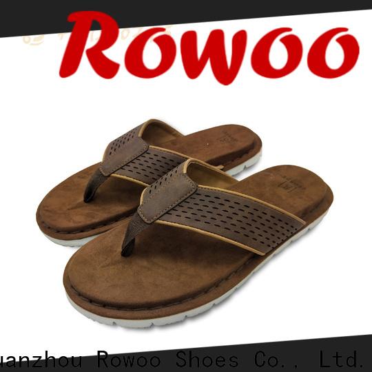 Rowoo New mens slip on sandals manufacturer