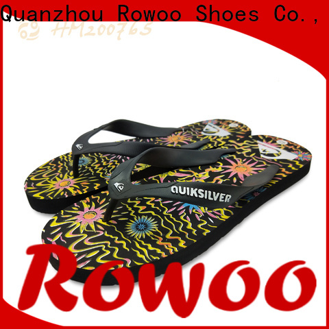 Rowoo rubber flip flops mens supplier