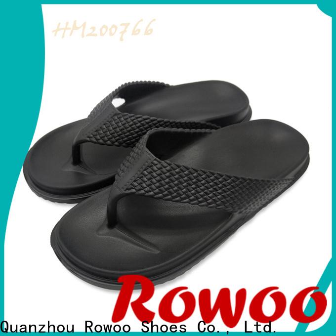 Rowoo mens designer flip flops manufacturer