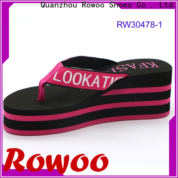 Rowoo high heel bedroom slippers manufacturer
