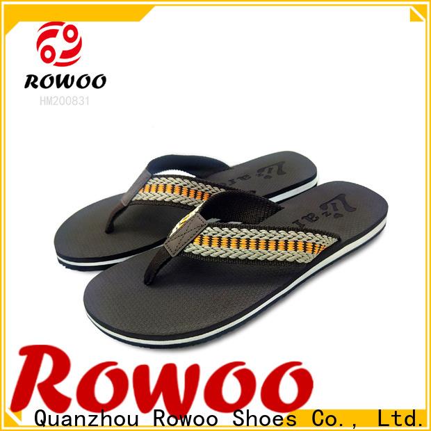 Rowoo oem flip flop slippers for mens factory price