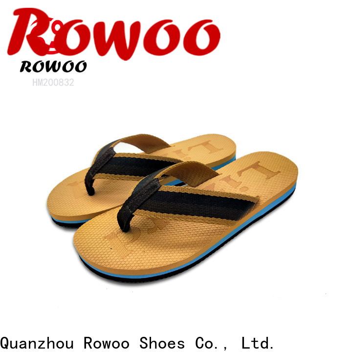 Rowoo mens white flip flops supplier