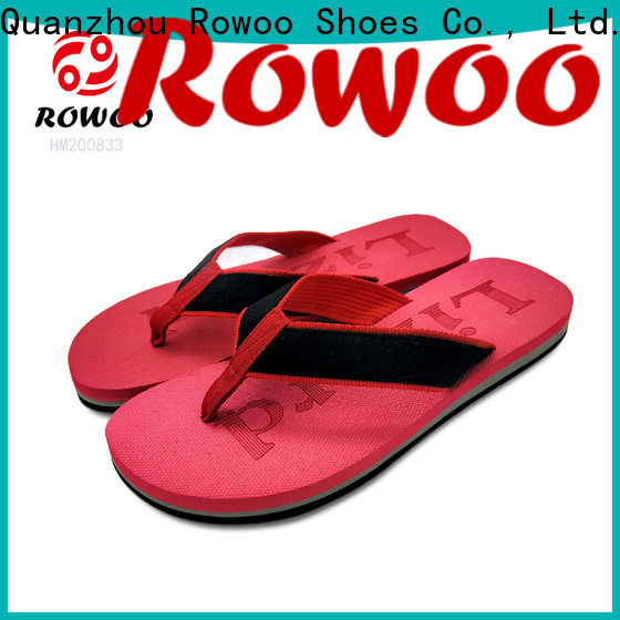 Rowoo professional mens cork flip flops hot sale