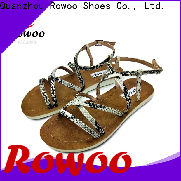 Rowoo leather flip flops womens best price