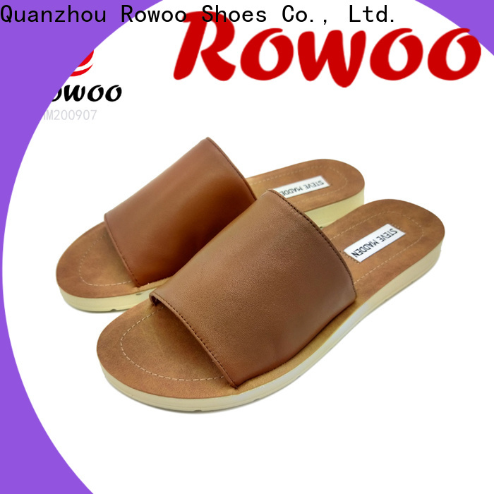 Rowoo buckle slide sandals hot sale