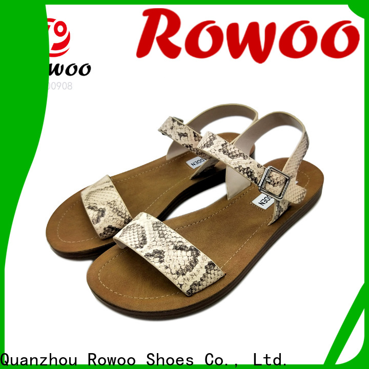 Rowoo low wedge sandals hot sale