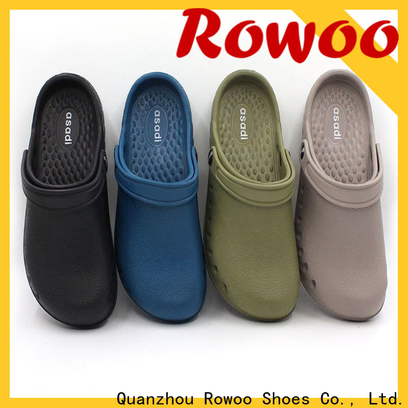 popular plastic shoes with holes factory price
