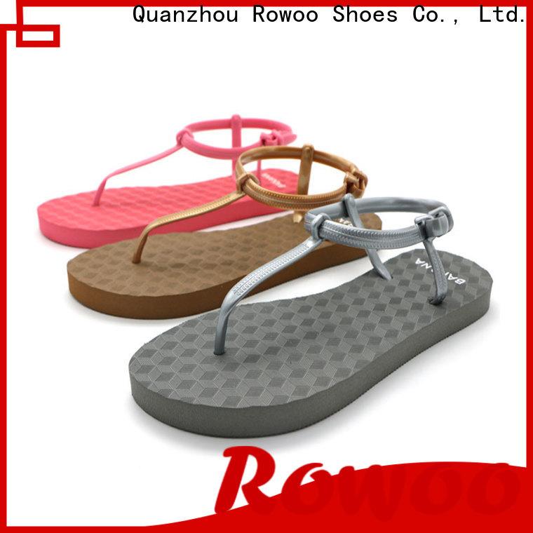 Rowoo Latest buckle slide sandals manufacturer