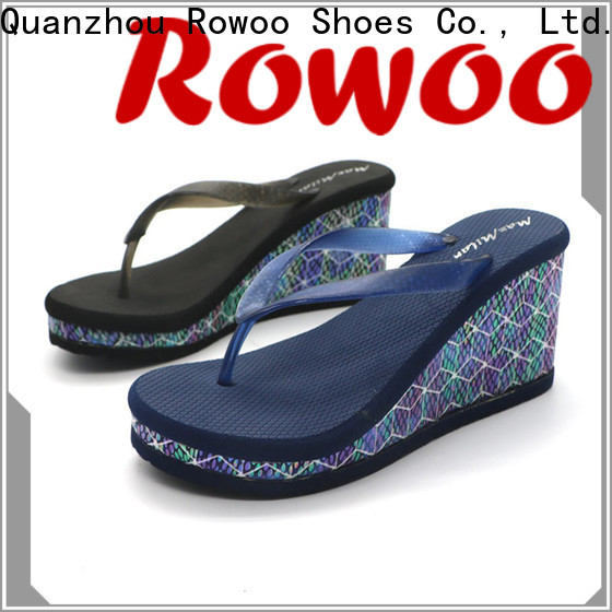 Rowoo women's high heel flip flops