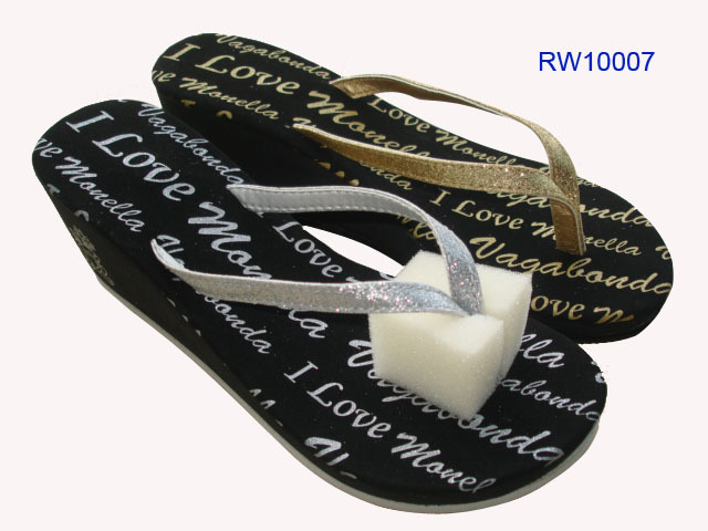 Custom Flip Flops For Women Wedge Heel Wholesale