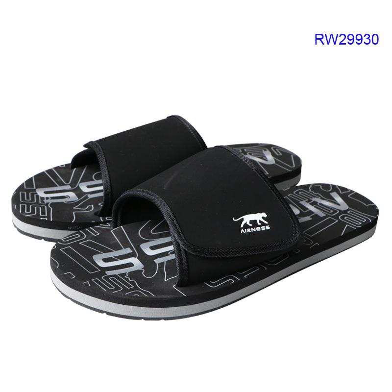 Men Canvas Slides Shoes Black Mule Shoes
