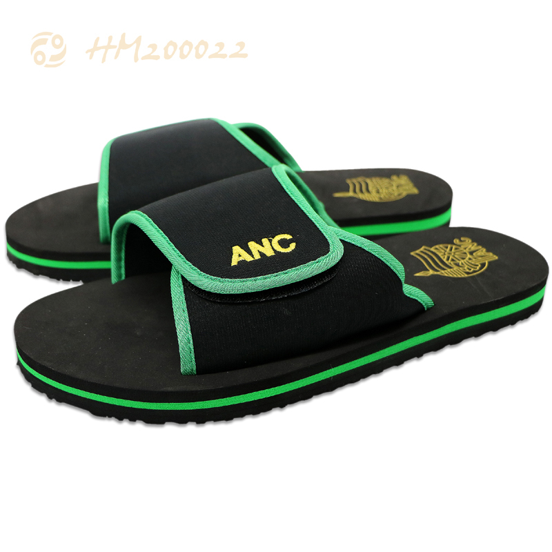Wholesale Men Black Hotel Slippers EVA Slides Sandals