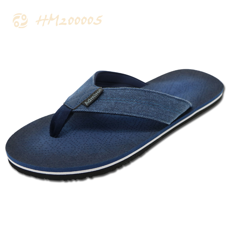 Customized Men Denim Flip Flops Sandals Anti-slip Slipper Shoes