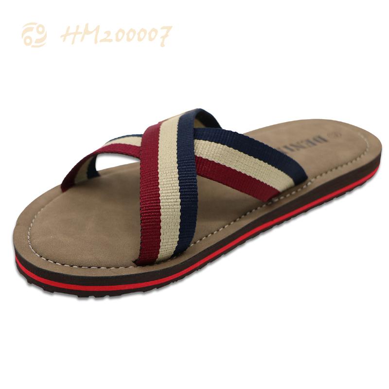 Customized Men Slides Shoes,Textile Strap Comfortable Sandals Africa Shoes
