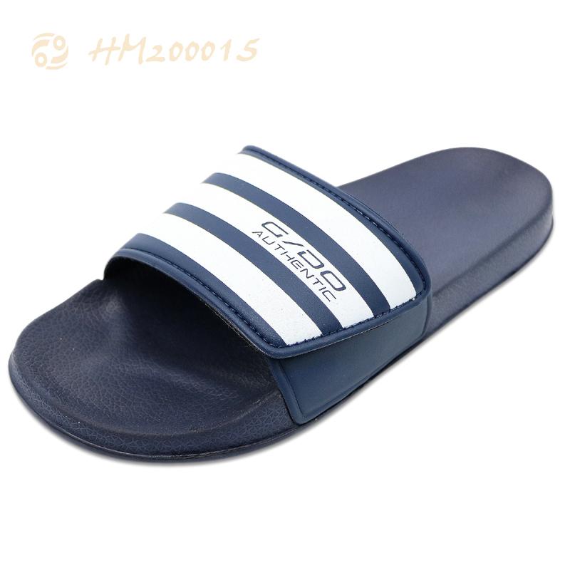 Men Slides Sandals Supplier,Adjustable Hook-loop Slides Slippers