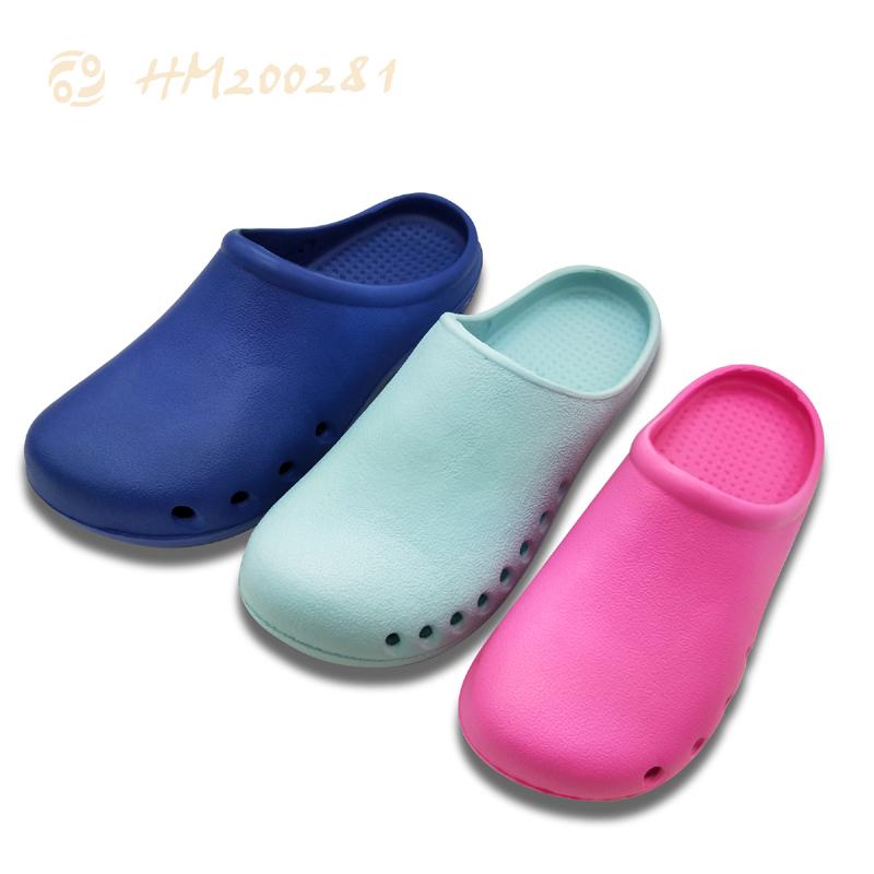 Flat Women Clog Sandals,Breathable Hole Mule Sandals