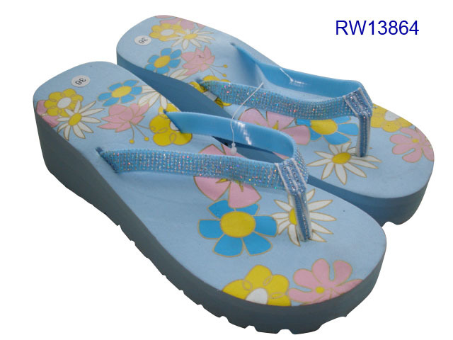 Ladies Heels Flip Flops Sandal Wedge Thong Slippers Womens